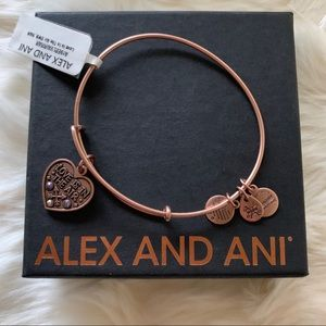 NWT Alex and Ani 'Love Is In the Air' Bracelet